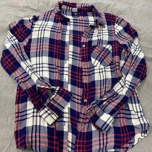 Soft plaid flannel button up